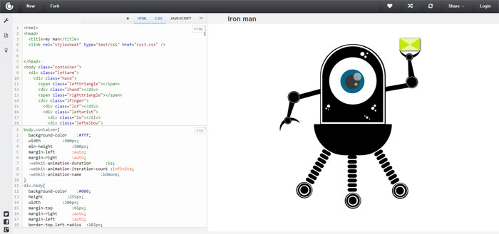 Alien-Bot Impressive CSS logo examples you should check out