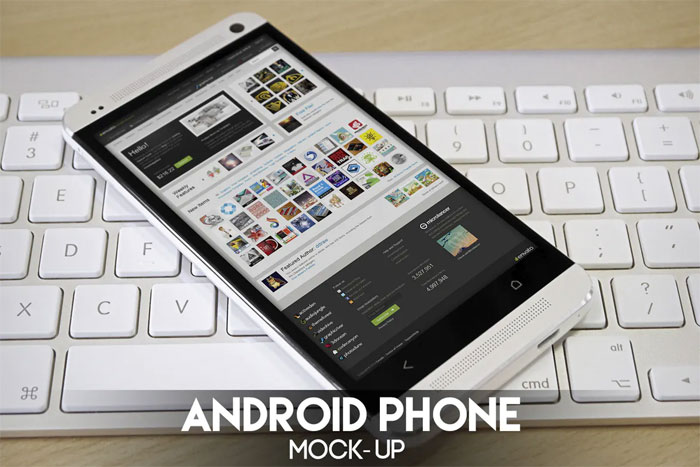 Android-Phone-mockup Phone mockup examples that you can quickly download