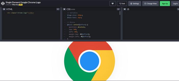 Chrome Impressive CSS logo examples you should check out