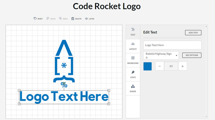 Code-Rocket Impressive CSS logo examples you should check out