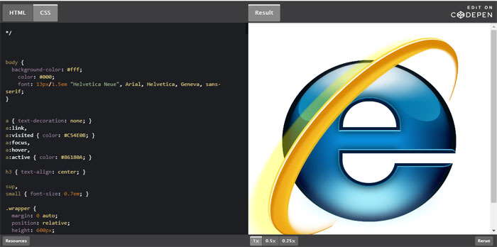 IE Impressive CSS logo examples you should check out