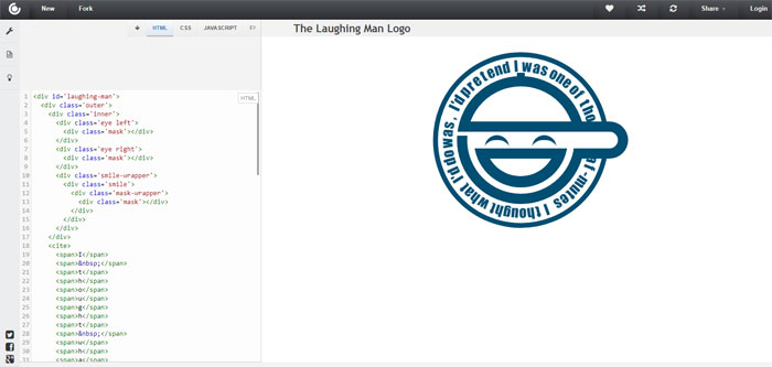 Laughing-man Impressive CSS logo examples you should check out
