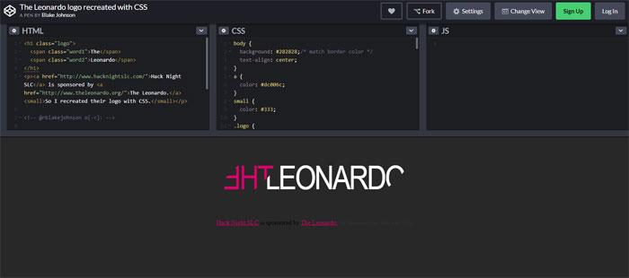 Leonardo Impressive CSS logo examples you should check out