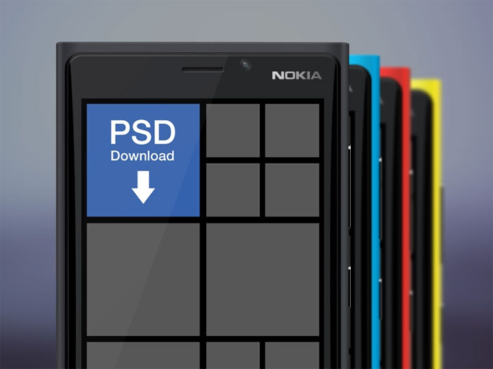 Nokia-Lumia Phone mockup examples that you can quickly download