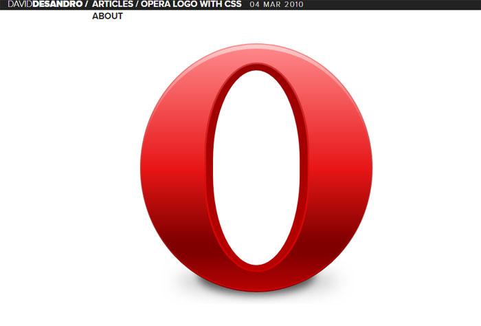 Opera-logo Impressive CSS logo examples you should check out