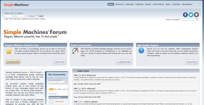 Simple-Machine The best forum software you can use right now