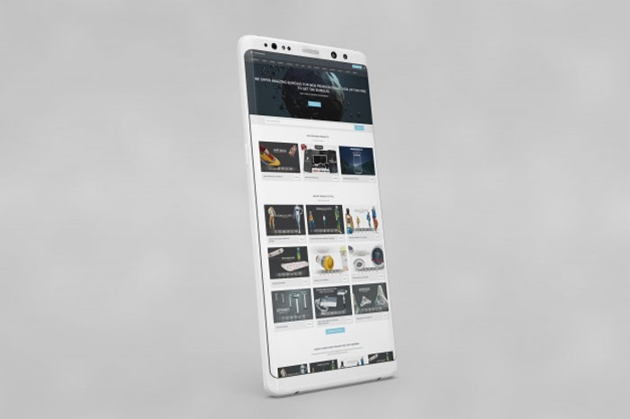 White-smartphone Phone mockup examples that you can quickly download