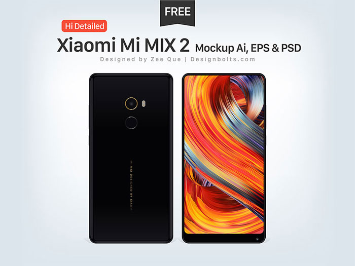 Xiamoi Phone mockup examples that you can quickly download