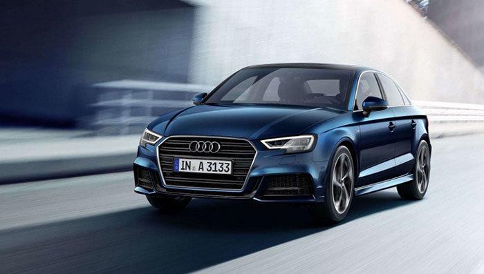 The Audi logo & the minimalist branding of this car company