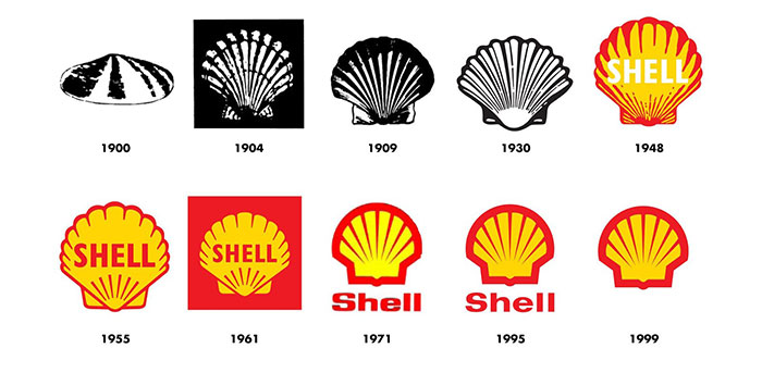 history-of-the-pecten-graphic L'évolution du logo Shell et comment il a fini par ressembler à ceci