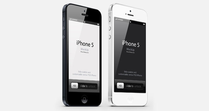 iPhone5 Phone mockup examples that you can quickly download