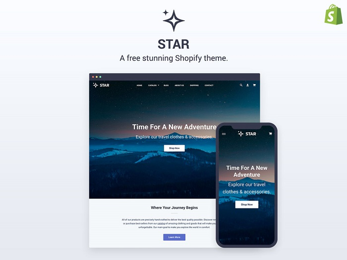 s1-110 Thèmes Shopify gratuits et premium pour commencer à utiliser
