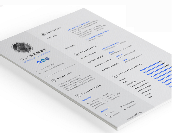s1-114 InDesign resume template examples that look absolutely great