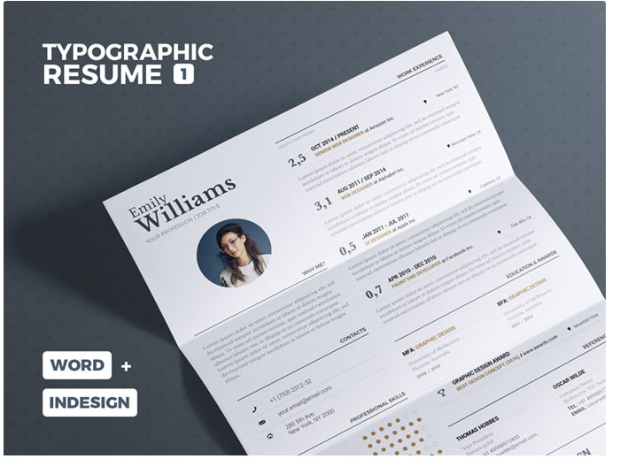 s1-115 InDesign resume template examples that look absolutely great