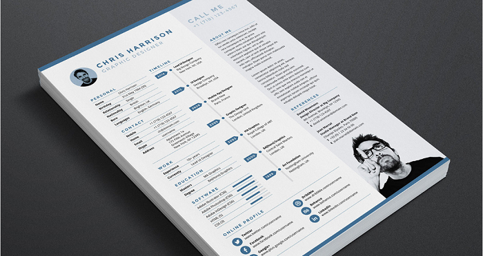 s1-116 InDesign resume template examples that look absolutely great