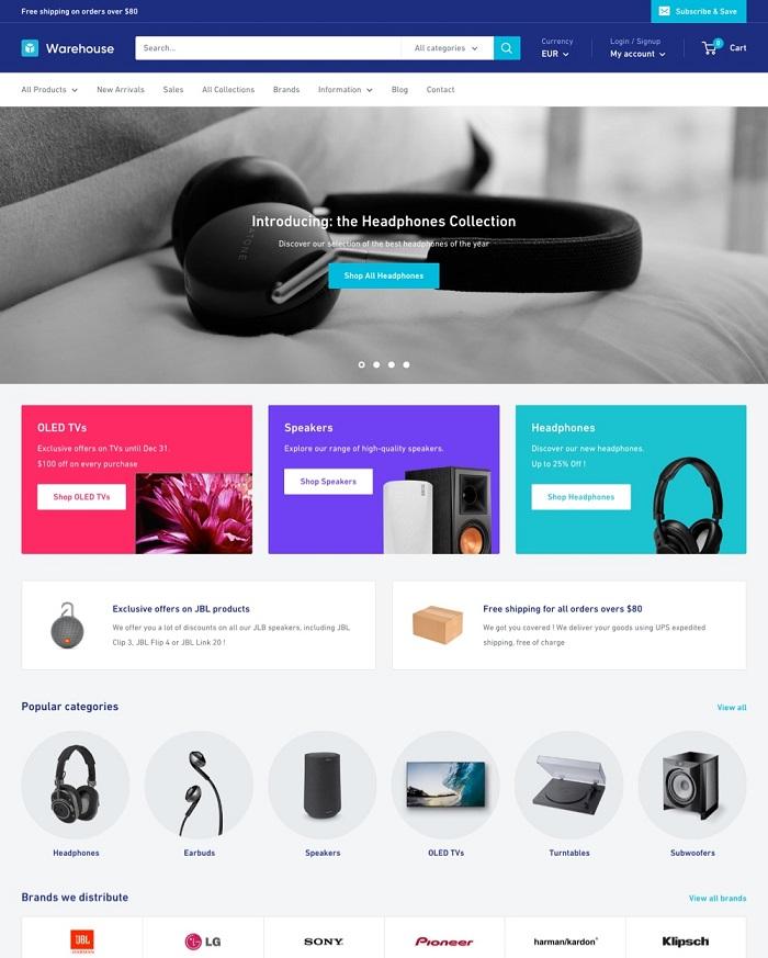 s1-17 Thèmes Shopify gratuits et premium pour commencer à utiliser