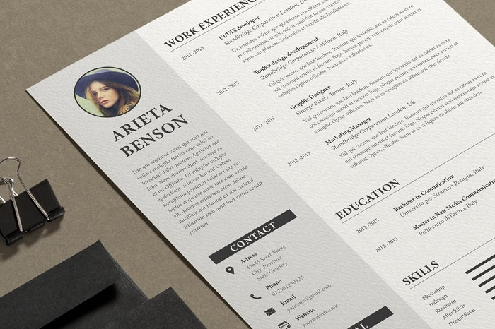 s1-379 InDesign resume template examples that look absolutely great