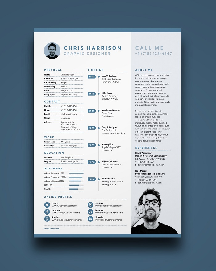 s1-380 InDesign resume template examples that look absolutely great