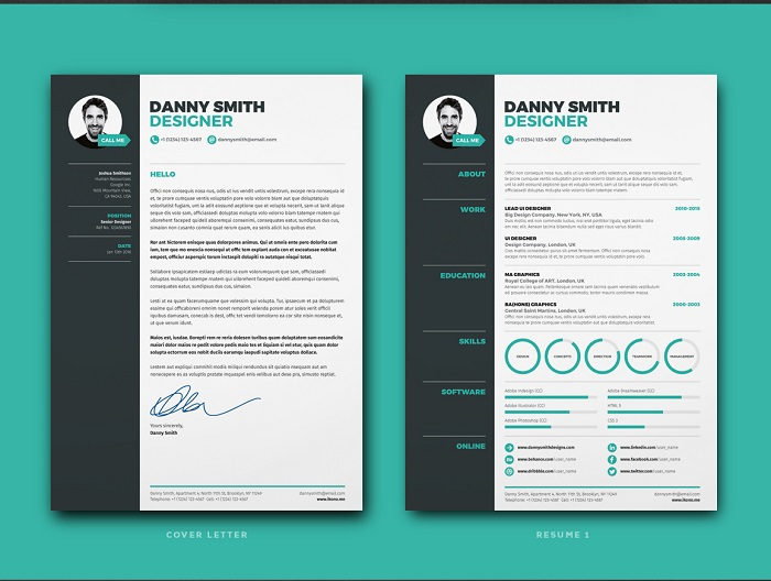 s1-388 InDesign resume template examples that look absolutely great