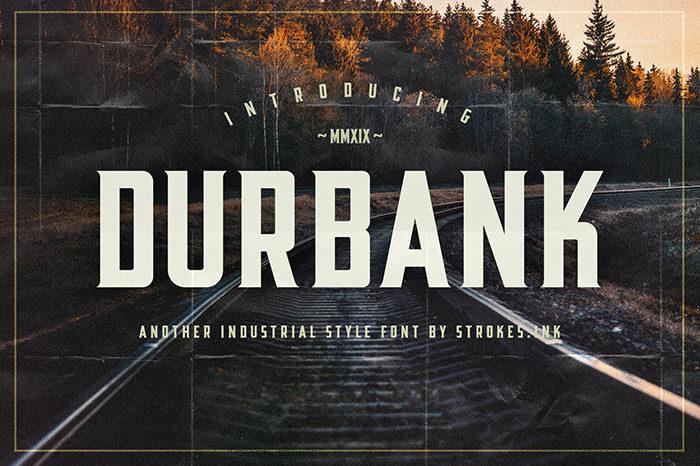 Durbank-Industrial-Style-Font-700x466 Phông chữ công nghiệp mà bạn có thể sử dụng cho các thiết kế theo chủ đề