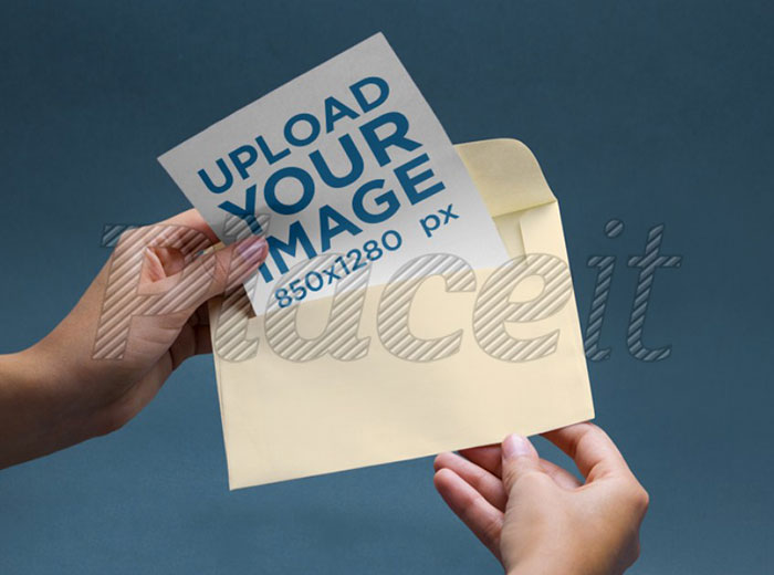 Envelope-Mockup-Featuring-a-Person Top greeting card mockup templates and designs to pick from