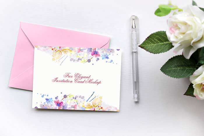 Free-Elegant-Invitation-Card Top greeting card mockup templates and designs to pick from