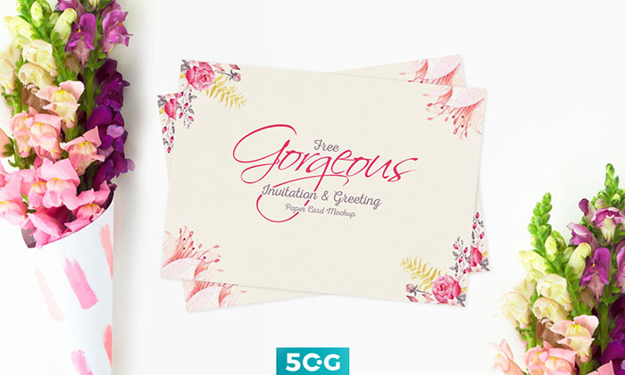 Free-Gorgeous-Invitation Top greeting card mockup templates and designs to pick from
