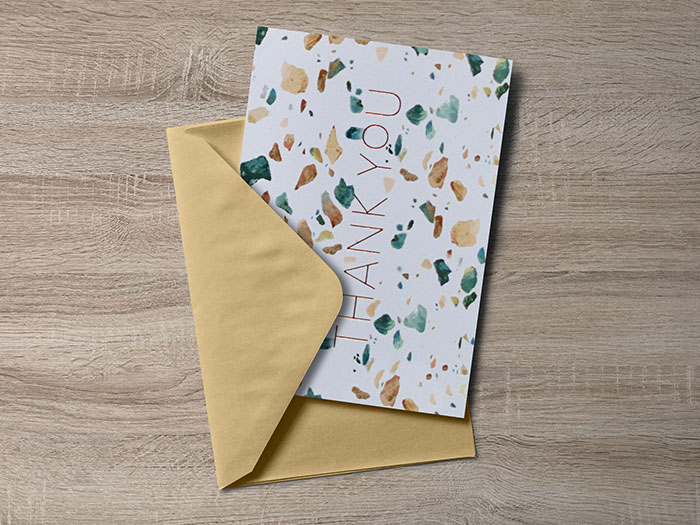 Free-Greeting-Card-Mockup-PSD Top greeting card mockup templates and designs to pick from