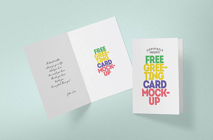 Free-Greeting-Card-Mockup Top greeting card mockup templates and designs to pick from