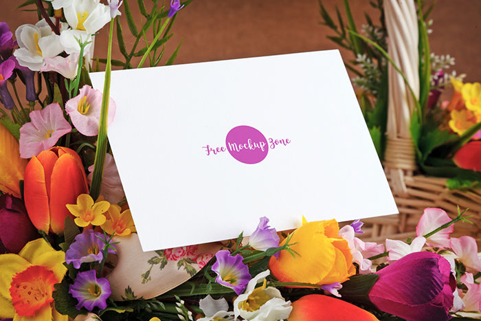 Free-Lovely-Mothers-Day-Greeting-Card-Mockup Top greeting card mockup templates and designs to pick from