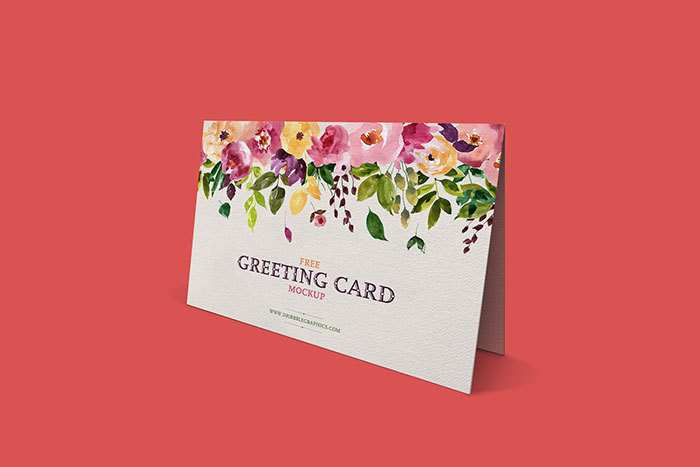 Free-Standing-Greeting-Card-Mockup Top greeting card mockup templates and designs to pick from