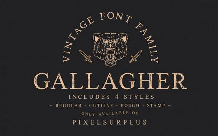 Gallagher-Vintage-Font-700x438 Phông chữ công nghiệp mà bạn có thể sử dụng cho các thiết kế theo chủ đề