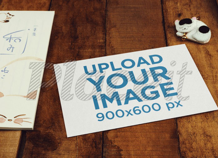 Greeting-Card-Mockup-Template-on-a-Wooden-Table Top greeting card mockup templates and designs to pick from