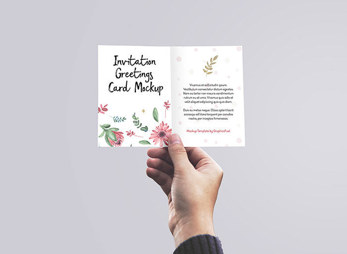 Greeting-Card-in-Hand-Mockup Top greeting card mockup templates and designs to pick from
