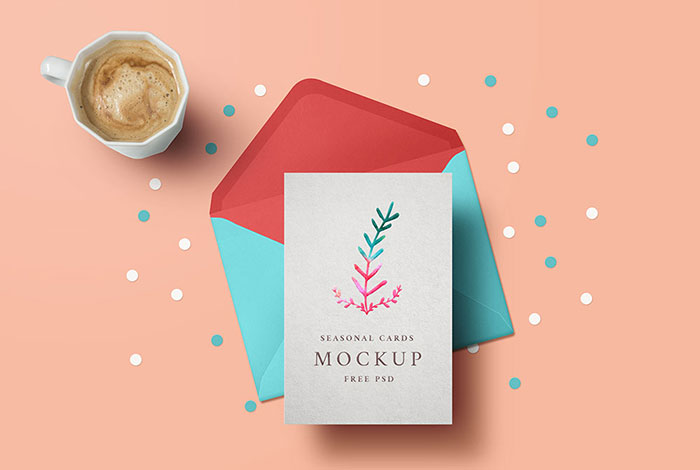 Holiday-Greeting-Card-Mockup-PSD Top greeting card mockup templates and designs to pick from