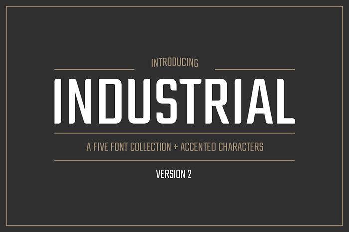 Phông chữ công nghiệp-Bộ sưu tập-700x466 Phông chữ công nghiệp mà bạn có thể sử dụng cho các thiết kế theo chủ đề