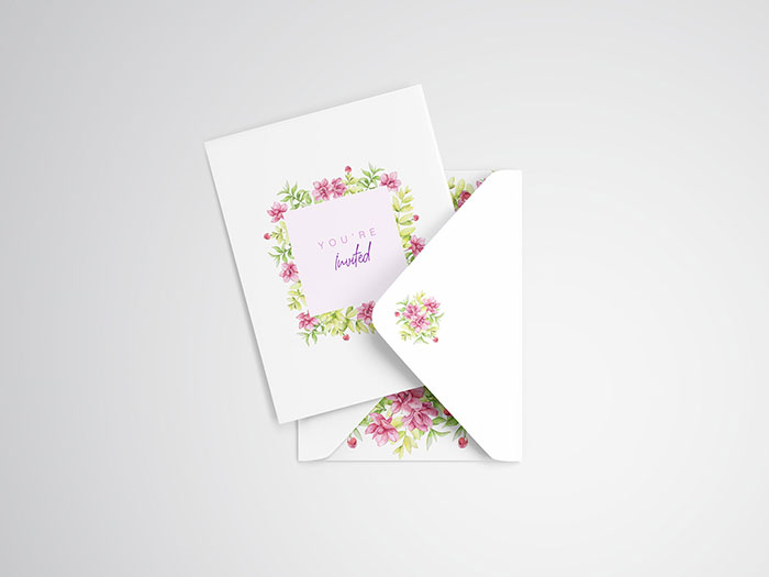 Invitation-Card-Mockup Top greeting card mockup templates and designs to pick from