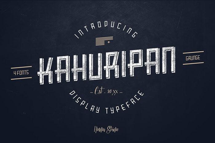 Kahuripan-700x466 Phông chữ công nghiệp mà bạn có thể sử dụng cho các thiết kế theo chủ đề