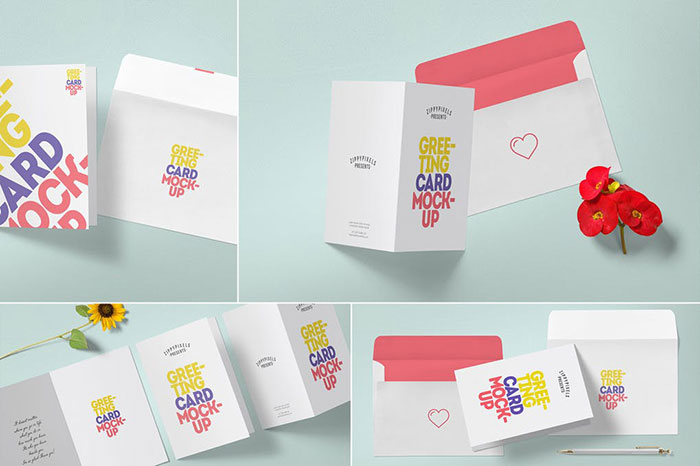 Multipurpose-Greeting-Card-Mockups Top greeting card mockup templates and designs to pick from