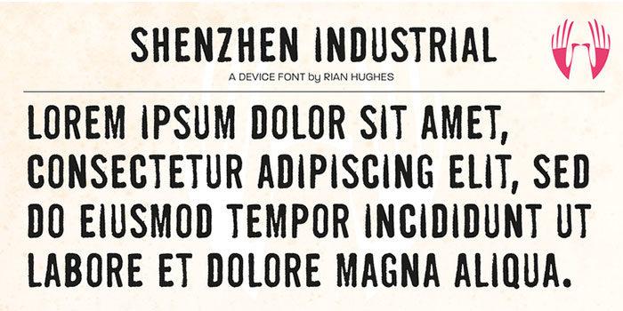 Phông chữ công nghiệp Thâm Quyến-Phông chữ-700x350 mà bạn có thể sử dụng cho các thiết kế theo chủ đề