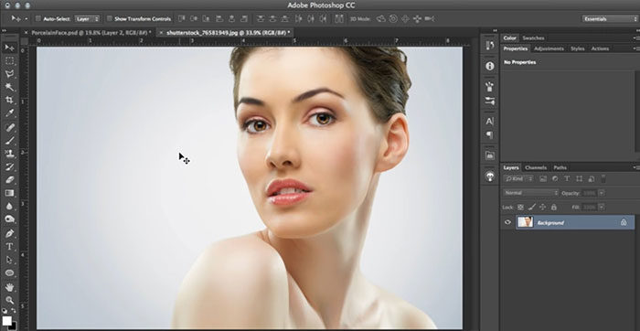 porclein-doll-700x362 Photoshop mask tutorials and guides you need to improve your skill