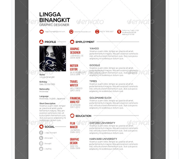 s3-2 InDesign resume template examples that look absolutely great