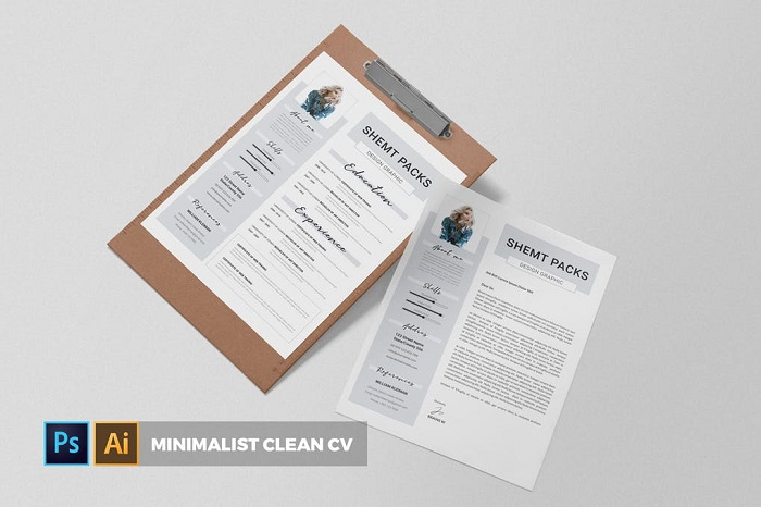 s3-6 InDesign resume template examples that look absolutely great