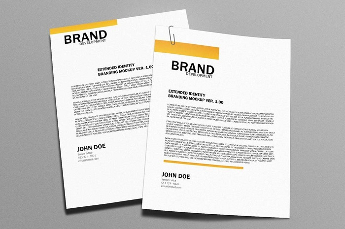 t2-27 The best letterhead mockup examples you will find online