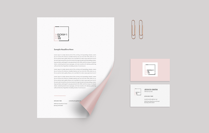 t2-35 The best letterhead mockup examples you will find online