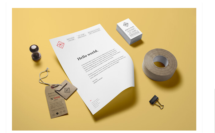 t2-42 The best letterhead mockup examples you will find online