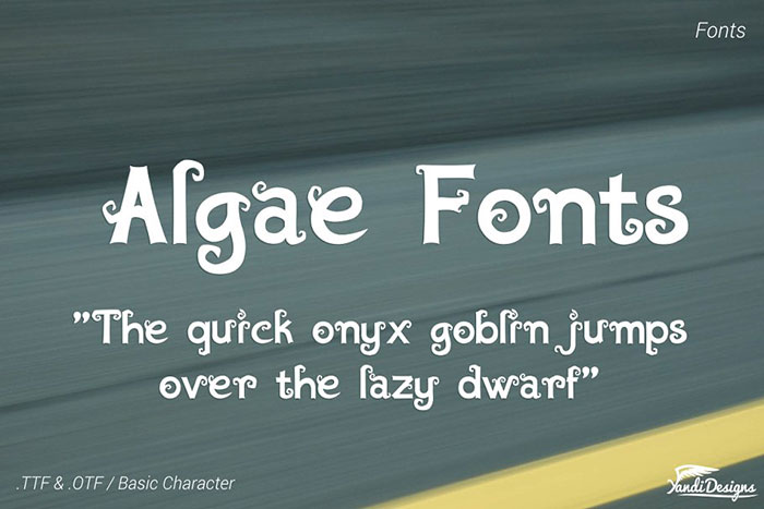 AlgaeFonts-–-Fantasy Awesome artistic fonts that you can quickly download for your projects