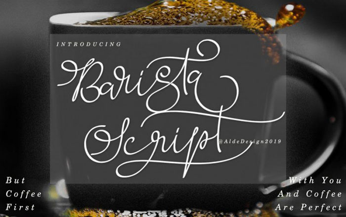 Barista-Script-Font Awesome artistic fonts that you can quickly download for your projects