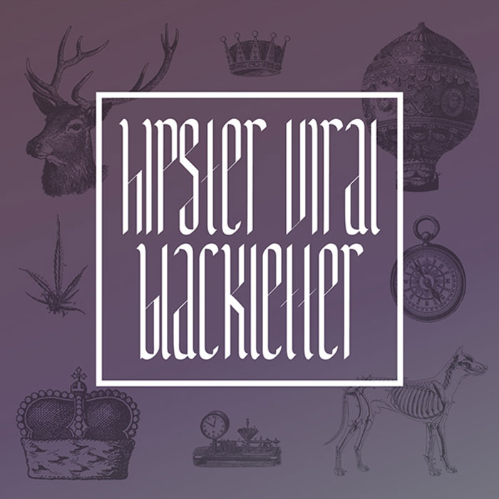 HipsterViralBlackletter-Font Awesome artistic fonts that you can quickly download for your projects