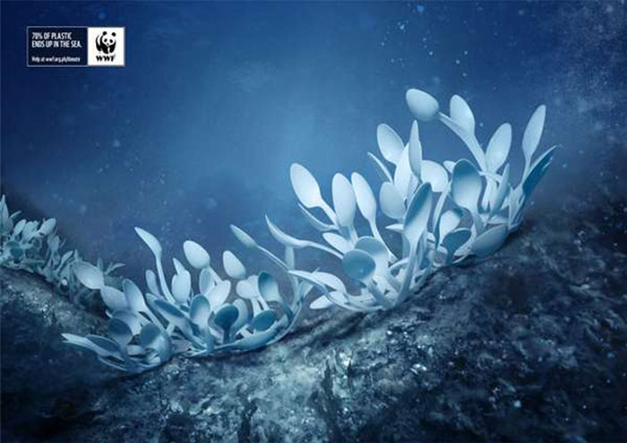 Plastic-Sea Creative WWF ads that will surprise you with their message